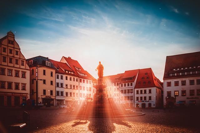 Marktplatz von Freiberg