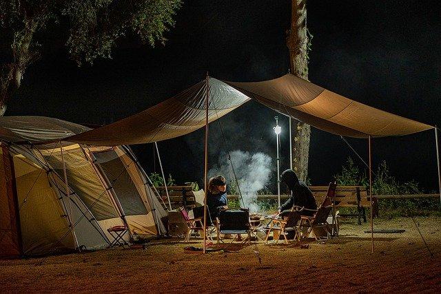 Heizstrahler beim Camping